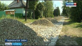 Дорогу из битого кирпича в деревне Митюково начали приводить в порядок