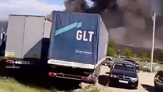 Станция техобслуживания загорелась на Ставрополье