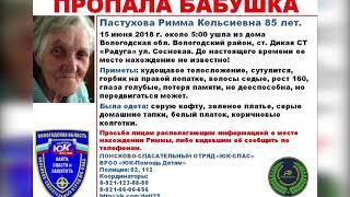 Под Вологдой пропала 85-летняя женщина