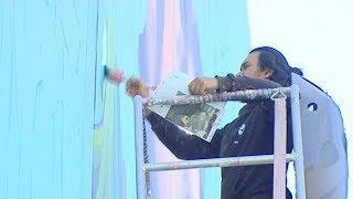 Ренессанс на улицах Нижневартовска: уличные художники расписывают столицу Самотлора