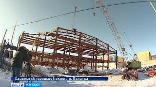 Спортивный комплекс с бассейном откроется в декабре в посёлке Палатка