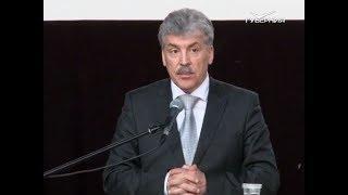 Павел Грудинин посетил Новосибирск в рамках избирательной кампании