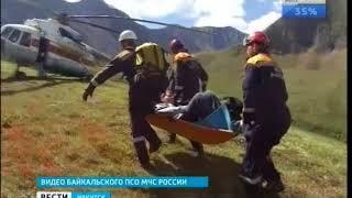 Двое суток ждал помощи на Шумаке сорвавшийся со склона турист из Иркутска