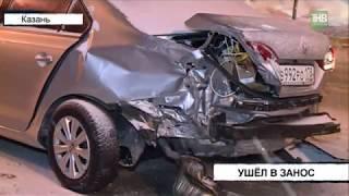 Причина аварии в Щербаковском переулке - скользкая дорога?