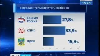 КПРФ лидирует на выборах депутатов Законодательного собрания Иркутской области