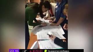 Включение с избирательного участка в Красноярске
