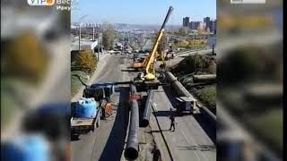 На развязке путепровода улицы Лермонтова перекрыли движение