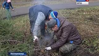 Жители Верхошижемья вышли на субботник(ГТРК Вятка)