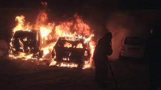 Ночью в регионе сгорели три автомобиля