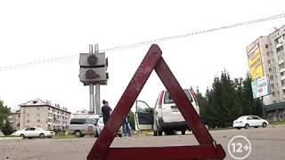 С тройного ДТП началось утро пятницы в Биробиджане(РИА Биробиджан)