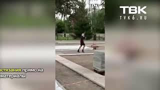 Прогулки по песочку: как выглядит пр. Мира и ул. Ленина в Красноярске