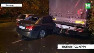 Нетрезвый автомобилист на полной скорости врезался в грузовик | ТНВ