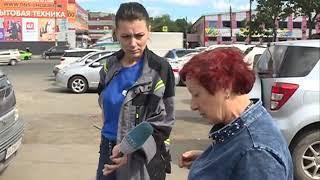 Дама-водитель перепутала педали и устроила массовое ДТП на Спортивной