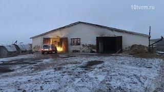 Пожар в Кадошкинском районе