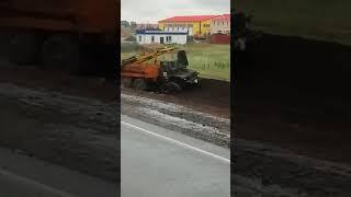 Серьезное ДТП недалеко от Омска на трассе Р-254 (10.08.2018)