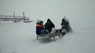 18 03 2018 На снегоходе в п. Симониха (Удмуртия) отправилась выездная избирательная комиссия