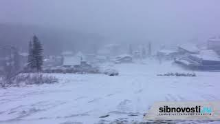 Шерегеш Валит снег