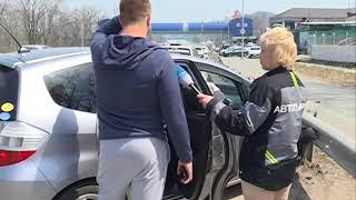 Водитель Lexus отправил хэтчбек в леера и скрылся с места ДТП