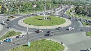 Небольшое ДТП на кольце улиц Магистральная/Губкина. 10/05/2018 г.