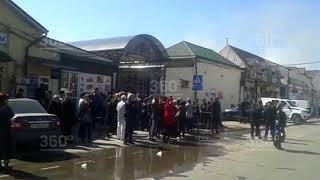 Жители Нальчика требуют у властей компенсации после пожара на рынке