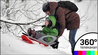 Снегопад в Москве не прекратится до понедельника