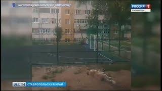 В Кисловодске ребенка придавили футбольные ворота