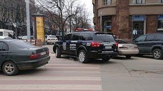 ДТП с машиной охранного агенства - запись с регистратора