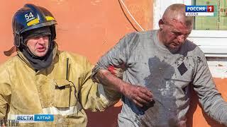 В Камне-на-Оби пожарные спасли от переломов одного из погорельцев