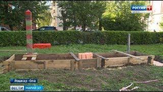 В Йошкар-Оле начали установку памятника воинам-пограничникам