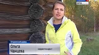 В Опаринском районе уникальная деревянная церковь нуждается в реставрации(ГТРК Вятка)