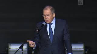 Входе выступления Лаврова на форуме вМоскве погас свет
