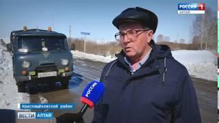 В Краснощёковском районе от первой волны паводка пострадало 19 мостов