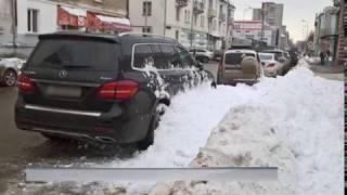 В Рыбинске глыба снега упала на женщину