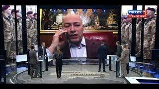 """Дмитрий Гордон на телеканале """"Россия 1"""" в программе """"60 минут""""."""