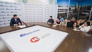 Брифинг РИЦ «Югра» с Дмитрием Губерниевым