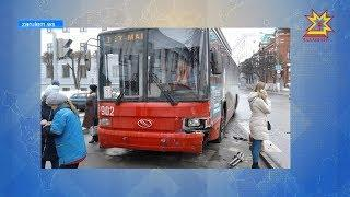 Произошло ДТП на перекрестке улиц К. Маркса и Дзержинского.