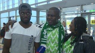 В аэропорту Волгограда встречают болельщиков из Нигерии и Исландии