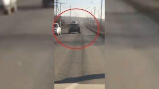 В Башкирии очевидцы сняли на видео неадекватное вождение за несколько минут до аварии