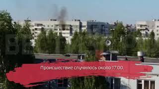 В Вологде произошел пожар в многоэтажке на улице Ярославской