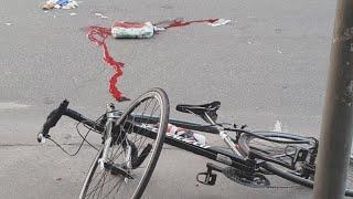 Вело ДТП в Киеве на Кириловской: упал велосипедист, ОчмтКома
