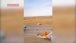 Опубликовано видео с места гибели в ДТП под Волгоградом четырех жителей Нижнего Новгорода