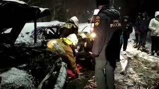 На гололеде в Вилючинске столкнулись две «Субару-Легаси» с пьяными водителями