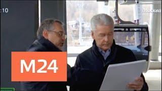 Собянин осмотрел ход строительства канатной дороги на Воробьевых горах - Москва 24