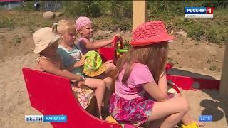 В Каскеснаволоке появилась новая детская площадка