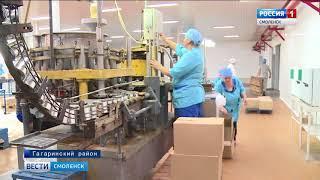 Смоленский губернатор проинспектировал производства Гагаринского района