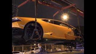 """Устроенное Lamborghini """"дорогостоящее"""" ДТП в Москве попало на видео - Россия Сегодня"""