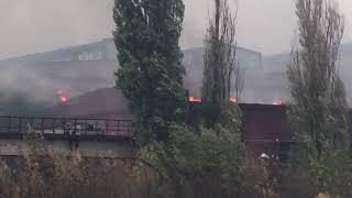 Видео очевидцев: пожар в Азовском районе