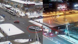 ДТП в Серпухове. Две аварии в один день на одном перекрёстке ... 22 февраля 2018г.