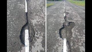 На Камчатке дорожную разметку нанесли в ямы | Новости сегодня | Происшествия | Масс Медиа