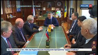 Глава Калмыкии встретился с министром транспорта РФ